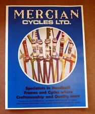 1970's MERCIAN CYCLES vintage bicycle CATALOG reprint