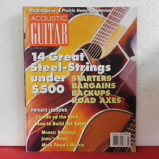 Steel Strings Acoustic Guitar Magazine Manuel Barrueco Jewel Mark Twain May 1999