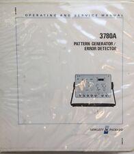 HP 3780A Pattern Generator Operating & Service Manual w/Schematics 03780-90008