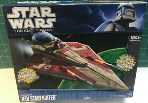 Star Wars The Clone Wars Obi-Wan's Jedi Starfighter. New in sealed box.