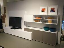 Kettnaker Lowboard TV Kombination Alea Lack Weiss / Glas A. Ausst Breite 360 Cm