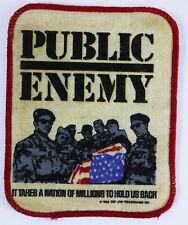Vintage Public Enemy Embroidered Patch 1988 Def Jam Recording