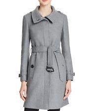 BURBERRY Womens GIBBSMOORE WOOL Blend Belted Coat - GREY MELANGE - SIZE 6 - NWT!