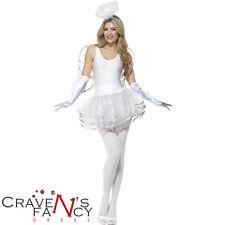 Smiffys Instant Tutu Angel Dress Fancy Dress Costume Kit Christmas Xmas One Size