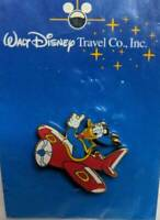 Walt Disney Travel Co Pin Donald flying in red airplane 2001 Rare sealed 6089