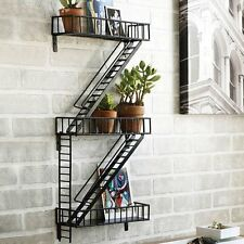 Corner Shelf Wall Mount Floating Shelves Fire Escape Curio Display Potted Plants