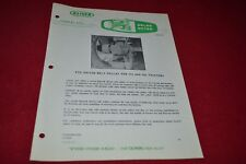 Oliver Tractor 770 880 Tractor Belt Pulley For PTO Sales Notes Brochure PBPA