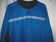 NIKE TEAM SOCCER Goalie Goalkeeper Dri-Fit Jersey Shirt Blue Size XL Extra Large