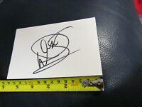 Warwick Davis Autographed 3x5 Index Card