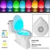 8/16 LED Badezimmer Toilette Nachtlicht Motion Activated WC Seat Sensor Lampe
