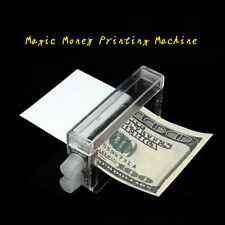 1 Pcs Magic Tricks Easy Money Printing Machine Money Maker Printed Money -^