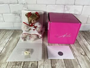 "Marie Osmond Tiny Tots MATERIAL GIRL Doll 5.5"" ORGANZA New in Box w/ COA & Heart"