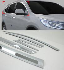 Chrome Window Sun Visor Vent Wind Rain Molding 6p 1Set For 2013-2015 Honda CR-V