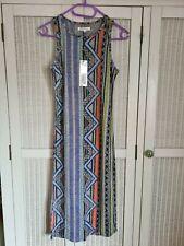 Glamorous Bodycon Midi Dress Grey Aztec Print Size 8