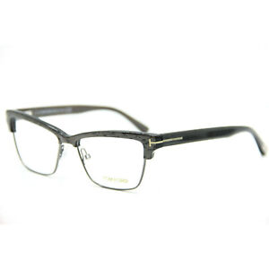 NEW AUTHENTIC Tom Ford TF5364 020 Eyeglasses Striped Grey 53-15-140