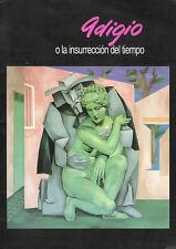 """Cuban Art Painting Catalog. Adigio Benitez """"o la insurrección del tiempo"""" 1998"""