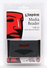 Kingston FCR-HS3 Black USB 3.0 Media Card Reader CF microSD SDXC SD