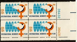 Scott 1571 3¢ Internation Women's Year Block of 4 MNH Free Shipping!