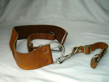 LEATHER CAMERA NECK STRAP, Quick release, Brown, with lug rings, Vintage #2830