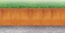 Rasenkante 3mm, 2mm 150, 200, 250 Corten Edelrost Mähkante Beeteinfassung Metall