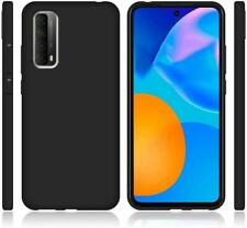 For TCL 20L Case, Slim Matte Black Silicone Gel Phone Cover + 1 x Screen Guard