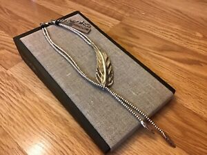 "NWT Uno de 50 Silver-plated Necklace ""Feather"" $270"