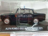 Alfa Romeo Giulia 1600 Super 1972 Carabinieri - Scala 1:43 - Atlas - Nuovo