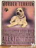20cm metal vintage style Border Terrier breed character hanging sign plaque