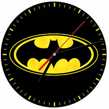 "8"" WALL CLOCK - BATMAN 2 Bat Cave Logo Kitchen Office Bathroom Bar Bedroom"