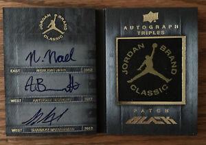 2013 Upper Deck Black Auto RC /99, Noel, Bennett, Muhammad, Jordan Brand Classic