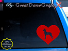 Great Dane #2 in HEART -Vinyl Decal Sticker -Color Choice -HIGH QUALITY