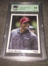 1995 Tiger Woods Stanford PRE-Rookie Card PGI 10 GOLF!! PGA Rare Pre-Rookie Nike