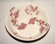 RARE ! Vasque en faïence de Longwy ensemble de toilette motif OISEAUX rouges
