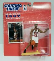 SCOTTIE PIPPEN - Chicago Bulls Starting Lineup SLU 1997 NBA Action Figure & Card