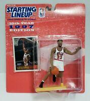SCOTTIE PIPPEN - Chicago Bulls Starting Lineup SLU 1997 NBA Action Figure & Card