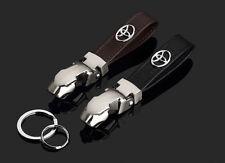 Black TOYOTA Metal Skin Car Keyring Keychain Keyfob Pendant Key Holder