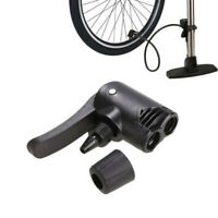 Bicycle Tyre Tube Replacement Track Dual Head Valve Air Pump Adaptor Foot Hose