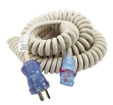 10ft Medical Grade Coiled Power Cord NEMA 5-15P to Locking IEC C13 by AC WORKS™