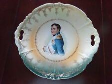 "New listing Vintage Porcelain Napoleon Bonaparte Portrait Transfer Cake Plate 9 3/4"""