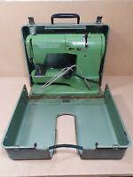 Vintage ELNA Supermatic Sewing Machine Green Spares Or Repairs