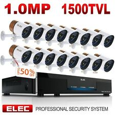 ELEC 16CH 960H 1500TVL HDMI DVR CCTV Video Recorder Home Security Camera System