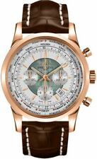 New Breitling Transocean Chronograph Unitime Rose Gold Watch RB0510U0/A733-756P