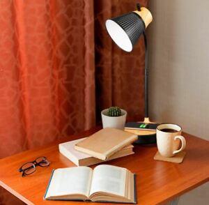 Ottlite LED Woodgrain Desk Lamp with Qi Wireless Charging Station