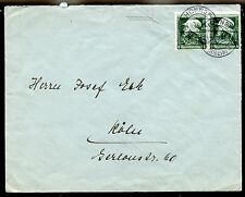 HONNEF 1935 COVER with PAIR of #452 to KÖLN