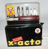Vintage X-Acto No. 77 Wood Carving Set