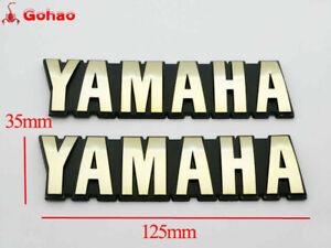 Gold Oil Petrol Tank Emblem Badges for Yamaha FS1 SR125 SR185 XS1100 XV500 XZ550