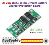 2S 20A 7.4V 8.4V 18650 Lithium Battery Protection Board BMS Balance Version