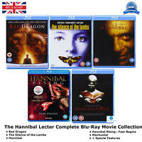 The Hannibal Lecter Movie Complete Collection + Special Features New UK Blu-Ray