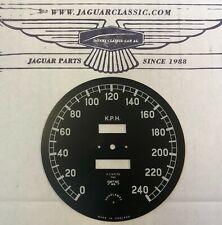 Zifferblatt Tachometer kmh/kph, 120kph auf 12 Uhr, XK120/140, korrekte Replika