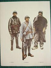 VINTAGE WW1 WWI PRINT FRANCE 2nd LIEUTENANT ASSAULT ARTILLERY GUNNER DRIVER